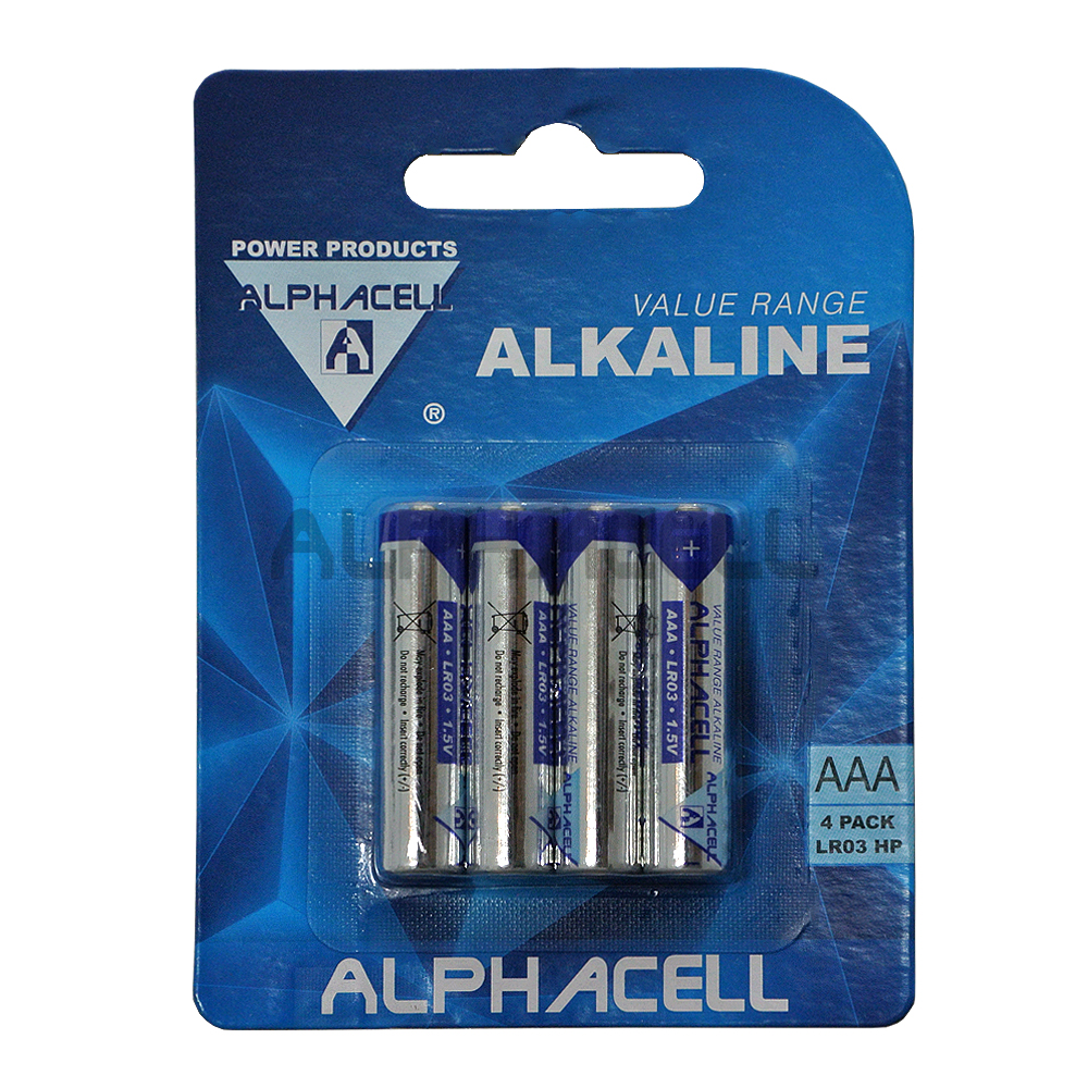 Alkaline Value AAA LR3 4pc - CARDED