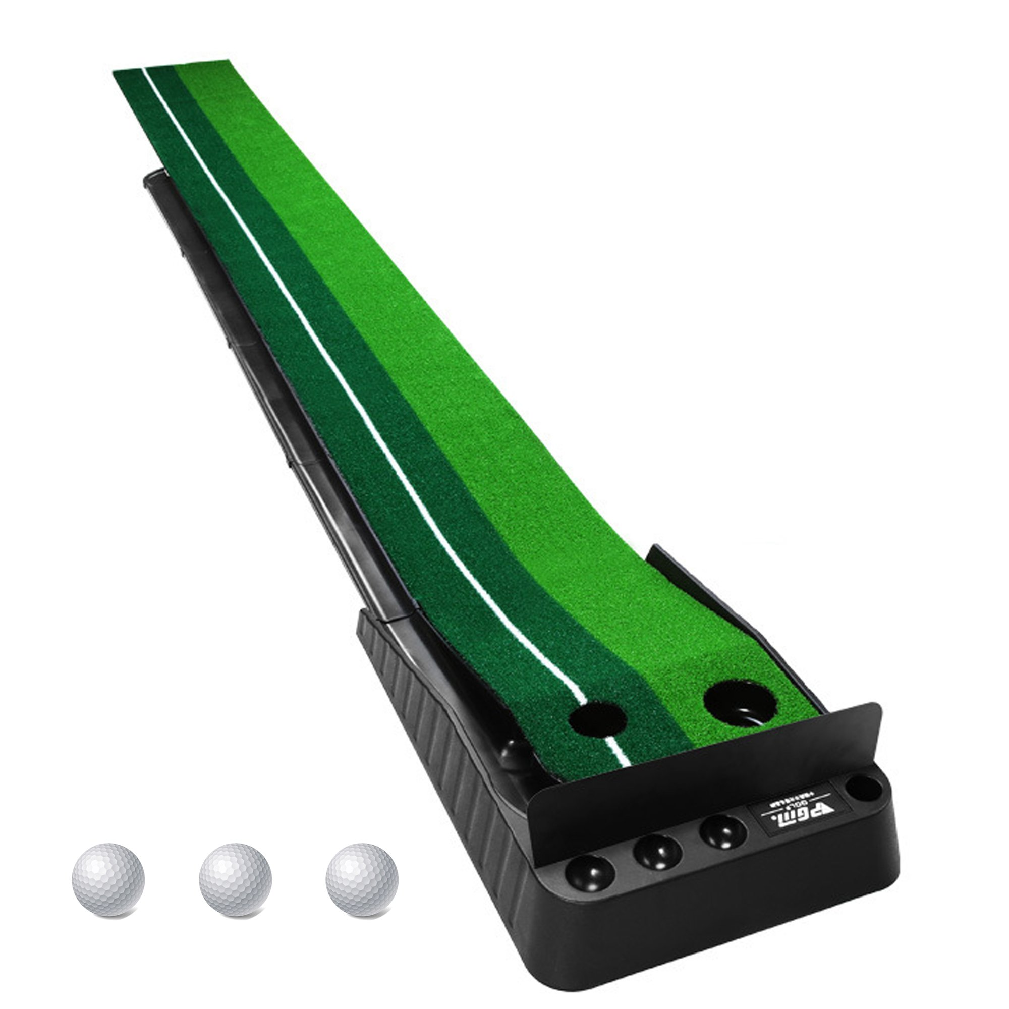 Golf Putting Training Auto Return Mat with 3 Training  Balls