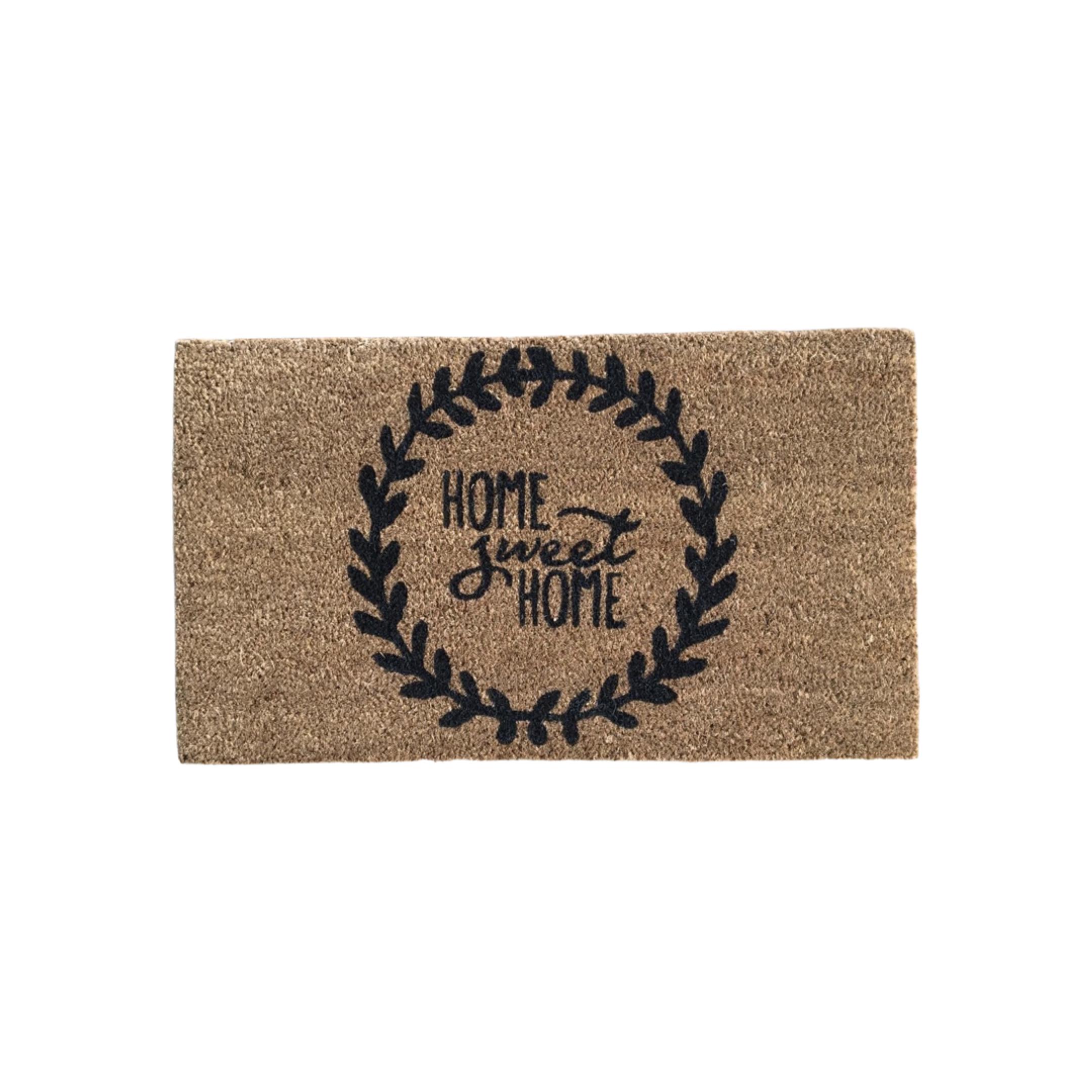 Matnifique Coir Doormat - Home Sweet Home Design 700 x 400 x 14mm