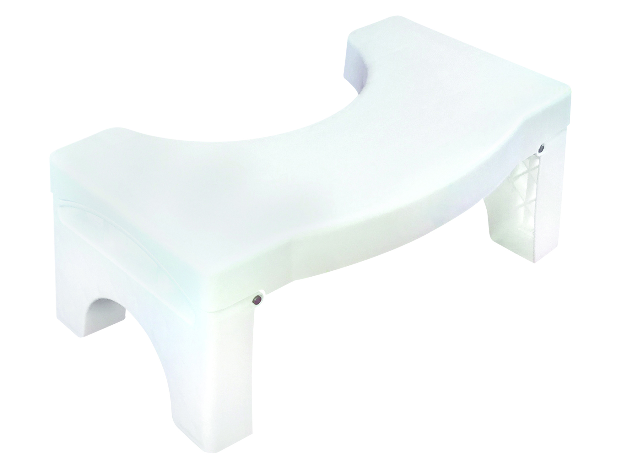 CASA - Stoop 'n Poop Foldable Toilet Stool - White