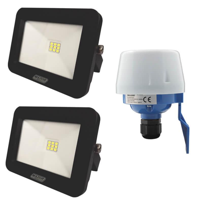 LED Floodlight and Day/Night Sensor Combo (MTC1) - Major Tech