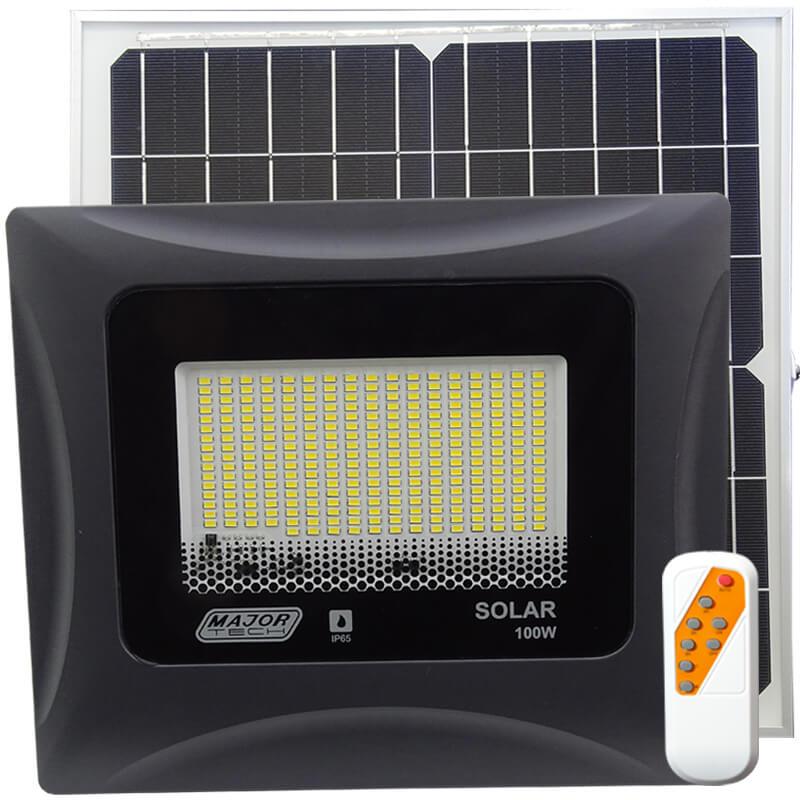 100W Solar Power LED Outdoor Flood Lights (STG11-100N) - Major Tech