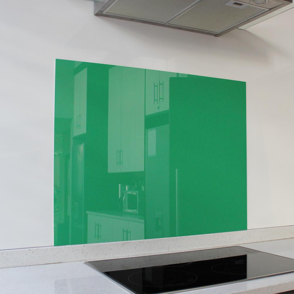 Green Hob Glass Splashback (898 x 700 x 6mm)