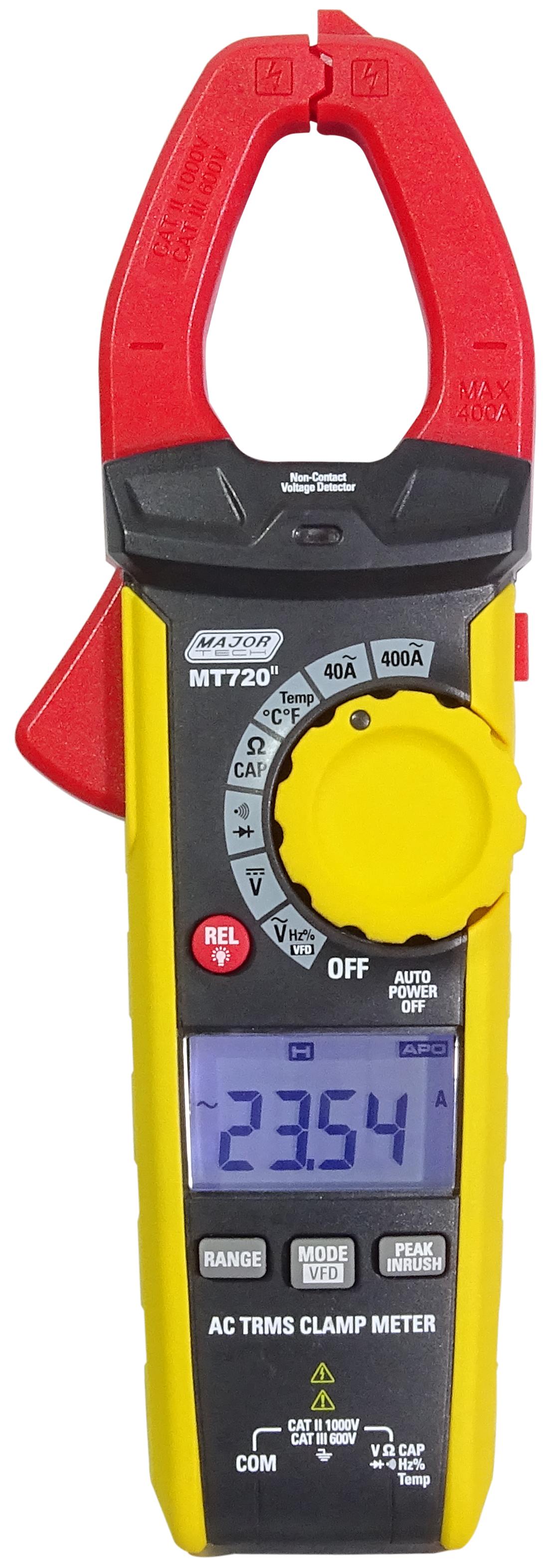 400A AC TRMS Clamp Meter (MT720) - Major Tech