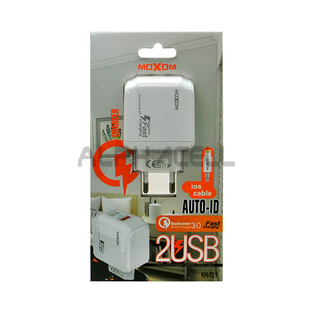 CHARGER MOXOM FAST 3AMP - IPHONE - KH