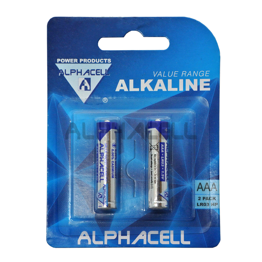 Alkaline Value AAA LR3 2pc - CARDED