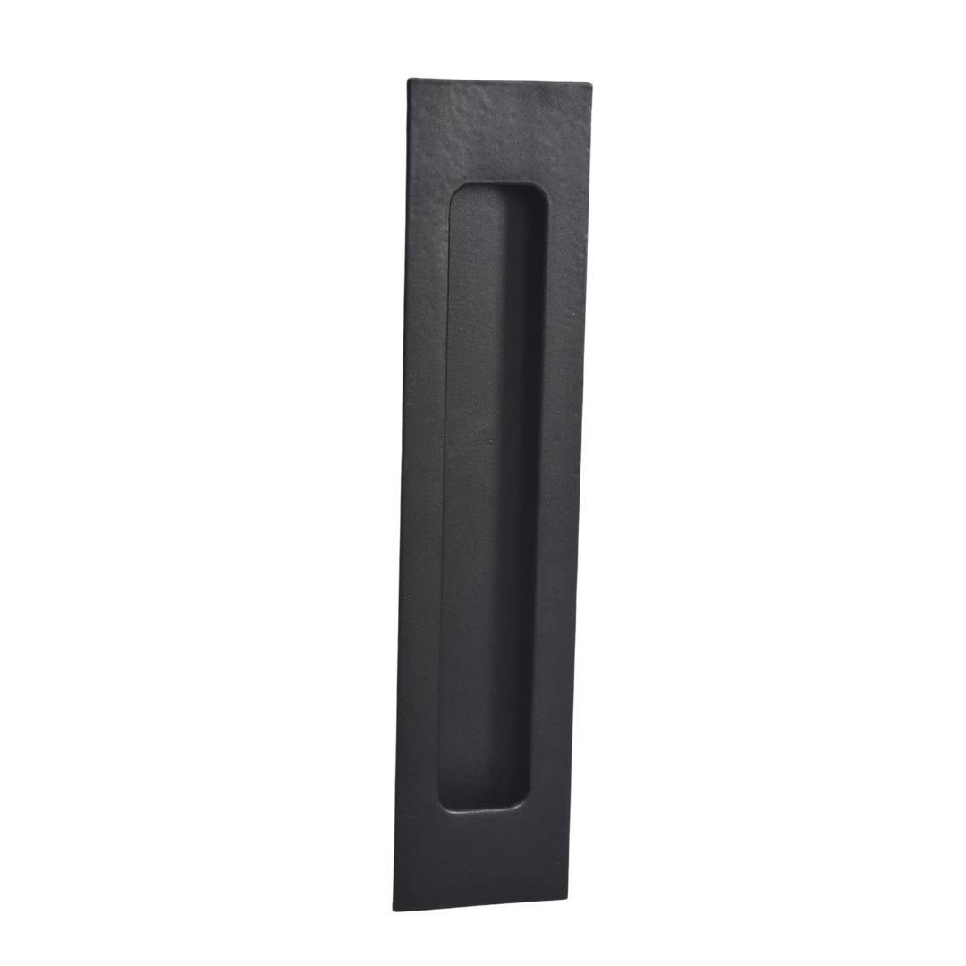 Black Flush Pull Handle 160mm