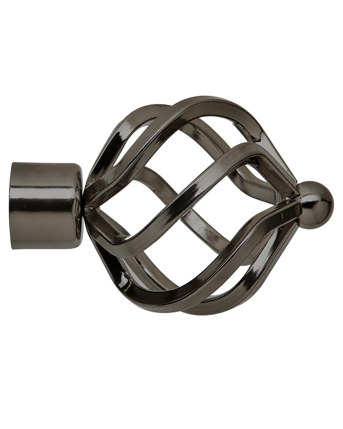 25 mm Steel Twist Finial Onyx