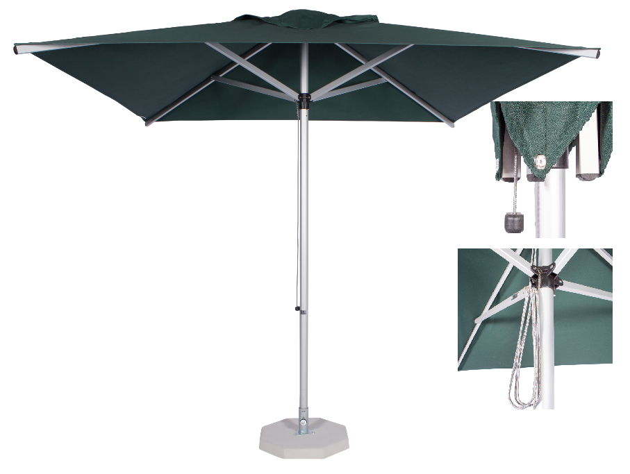 2.35m Square Alu Umbrella-Green