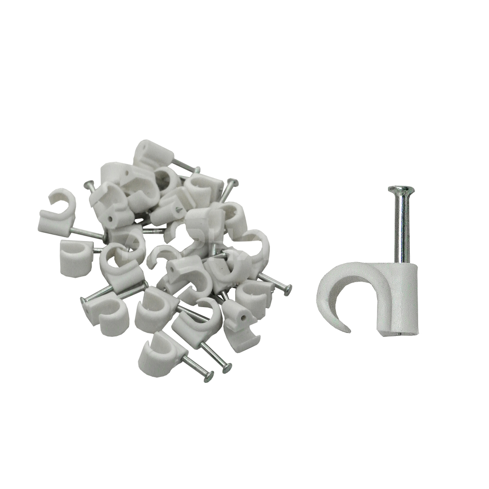 Cable Clip - 8 ROUND (qty25)