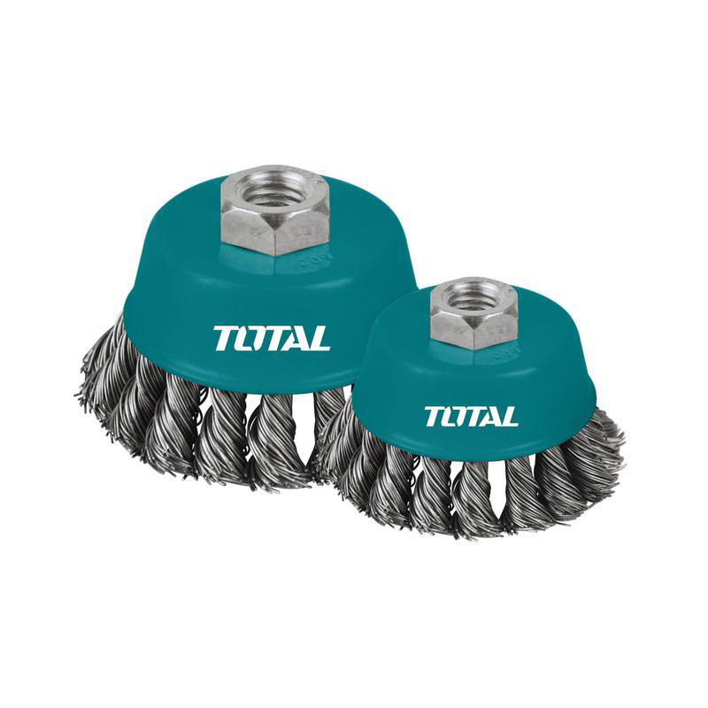 Total Tools Cup Brush 125mm Wire With Nut