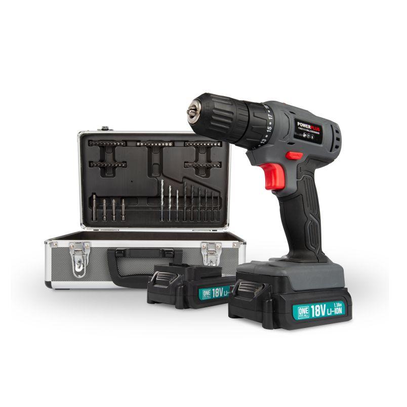 Power E Drill/Screwdriver Set 18V Li-Ion