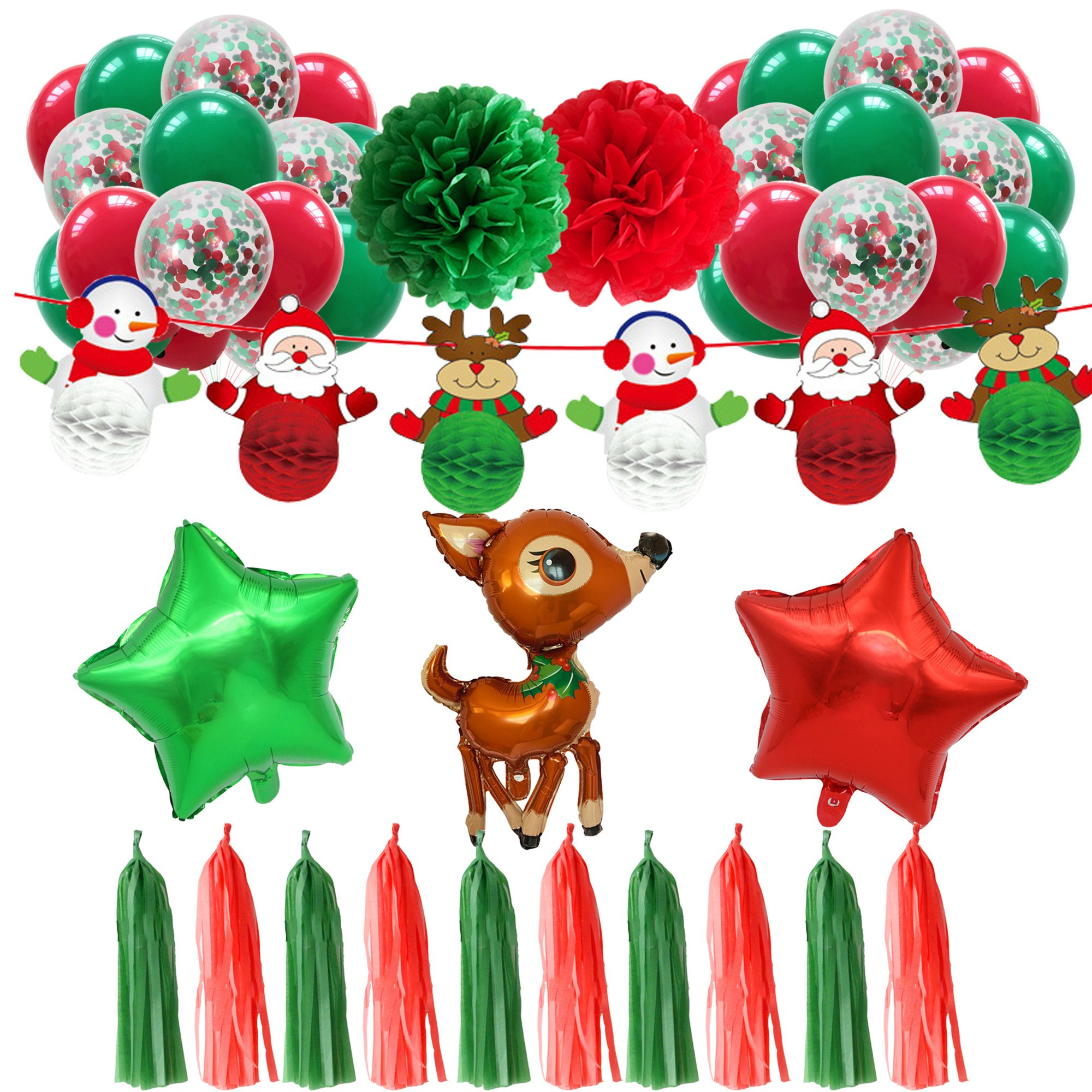 46Pcs Christmas Balloon Party Decoration Pack