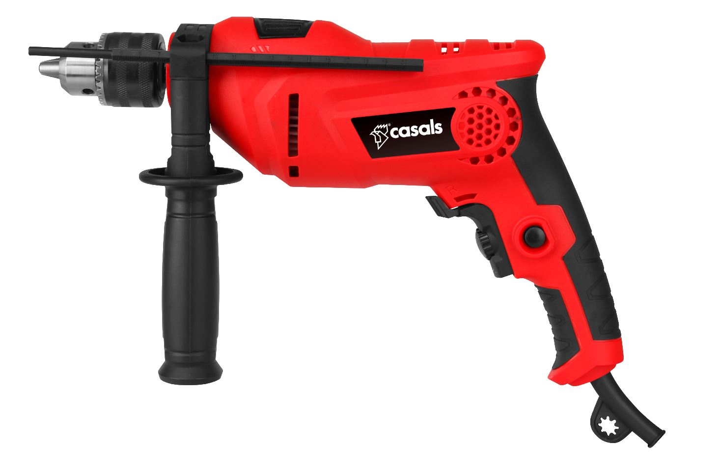 Casals Drill Impact With Auxiliary Handle Plastic Red 13mm 8