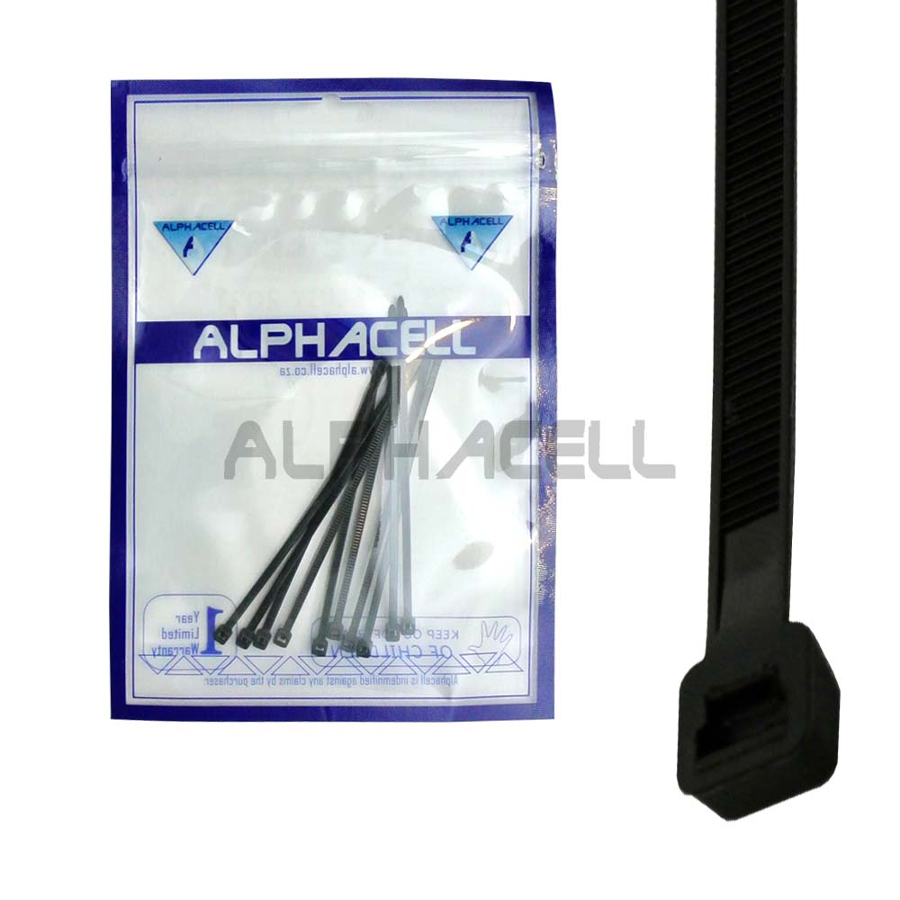 CABLE TIE - 100mmx2.5mm BLACK - 10 pack
