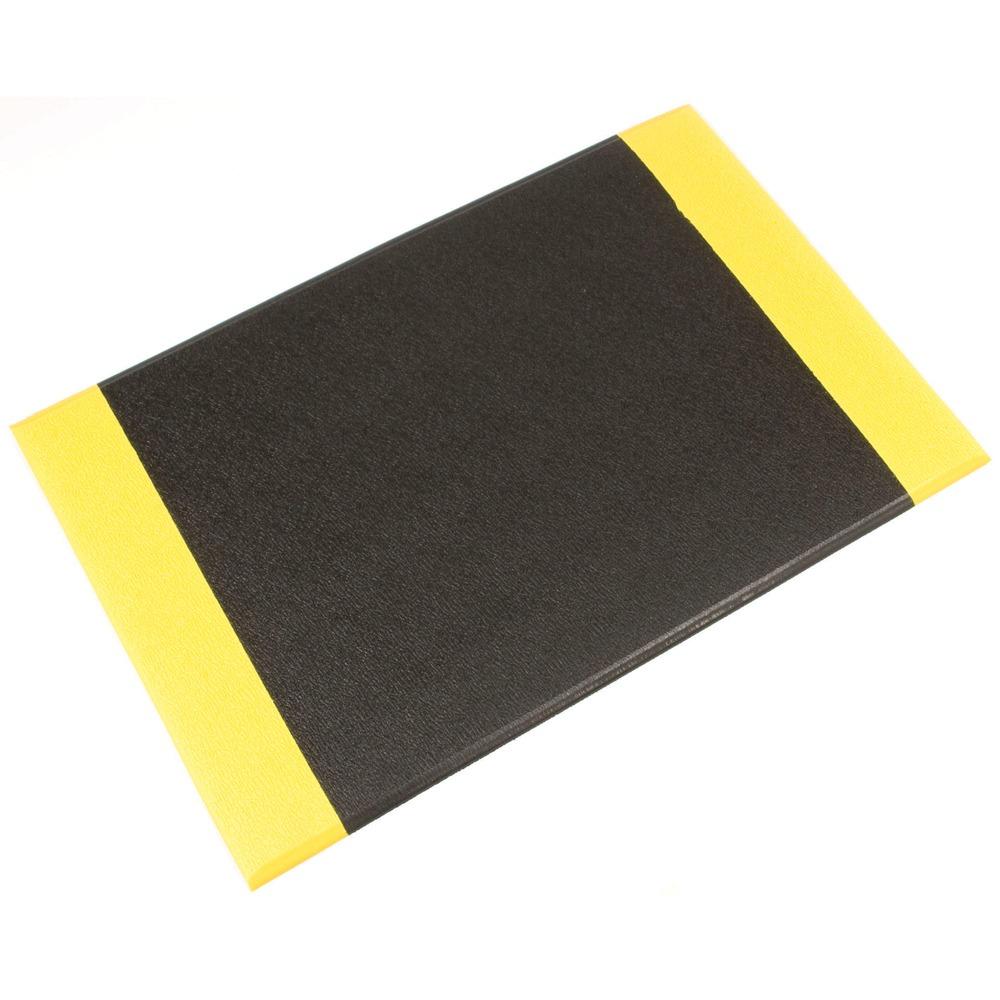 Orthomat Anti-Fatigue Workplace Mat Black/Yellow Safety Edge 450mm x 900mm