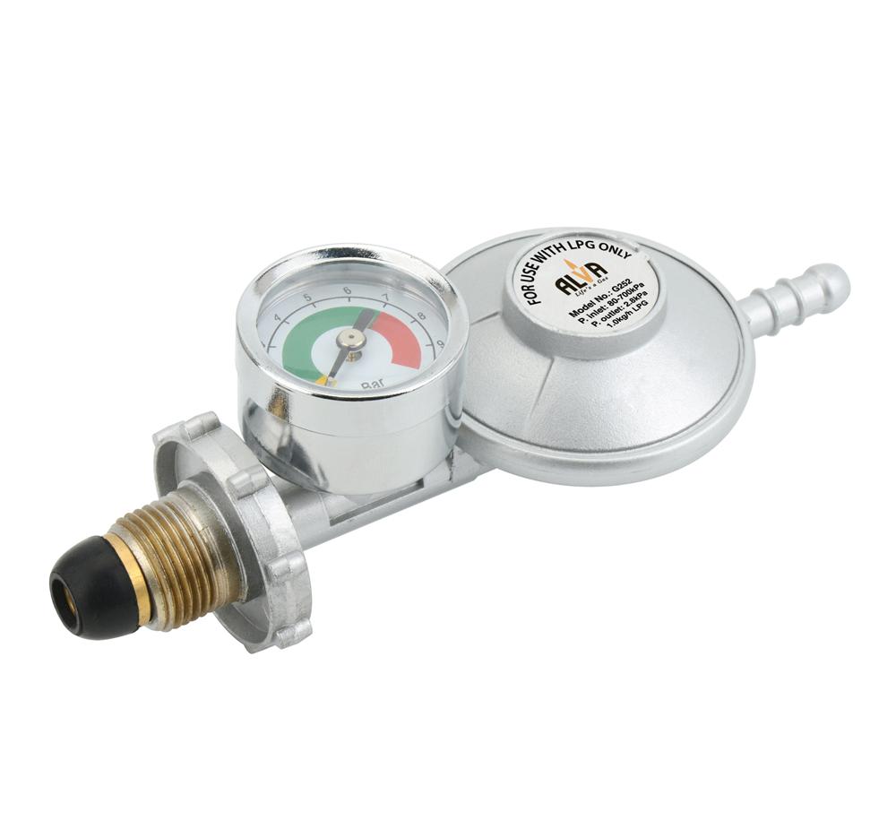 Alva-Bullnose Regulator With Pressure Gauge