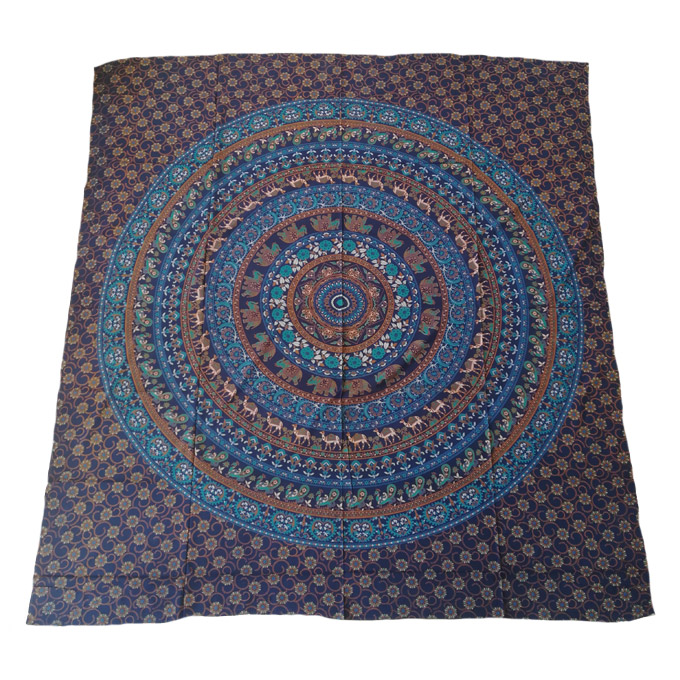 Navy and Brown Tapestry