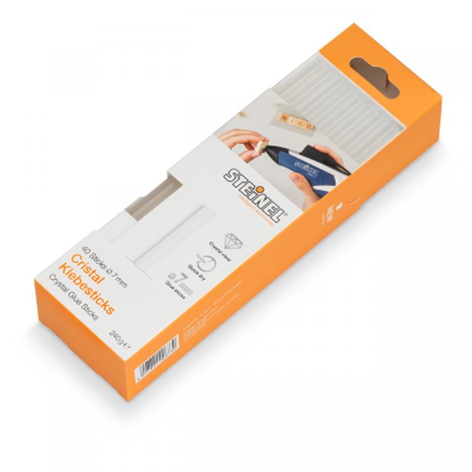 Steinel - 40 Crystal Glue sticks Ø 11 mm (1kg) -  German Quality