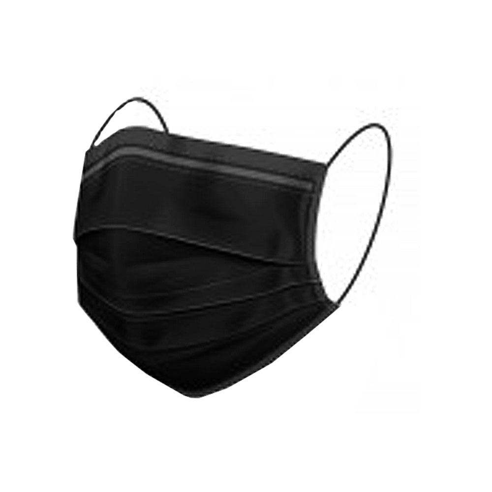 FACE MASK - 3 ply disposable BLACK - 1PIECE(box50)