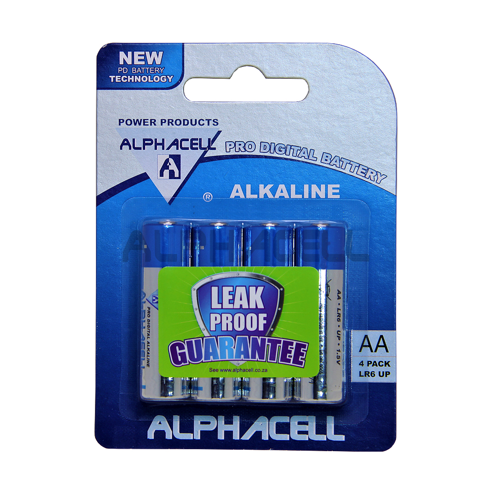 Alkaline ProDIg AA LR6 4pc Alphacell CARDED