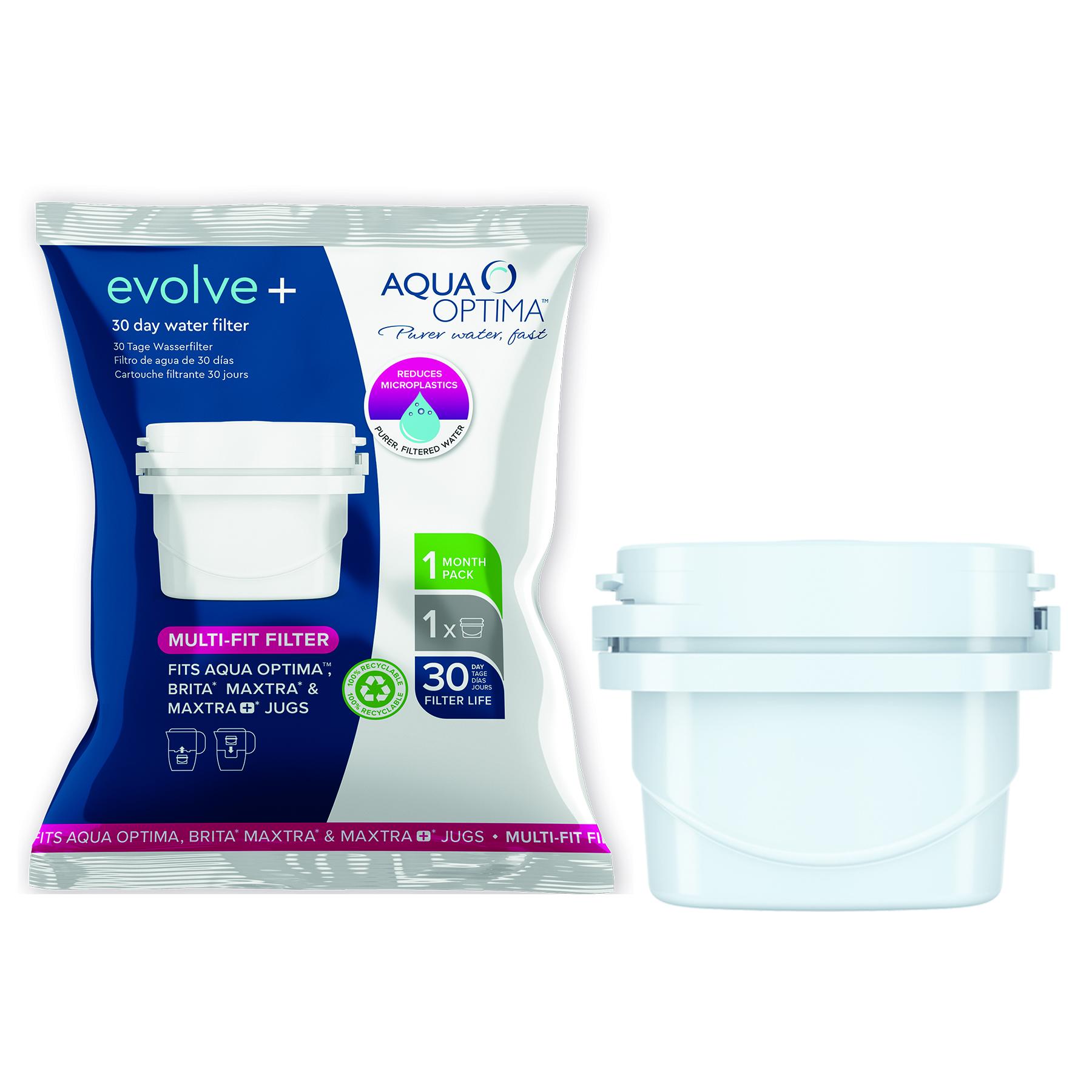 "Aqua Optima Filter 3 Piece Pack Plastic White 30 Day ""Evolve+"""