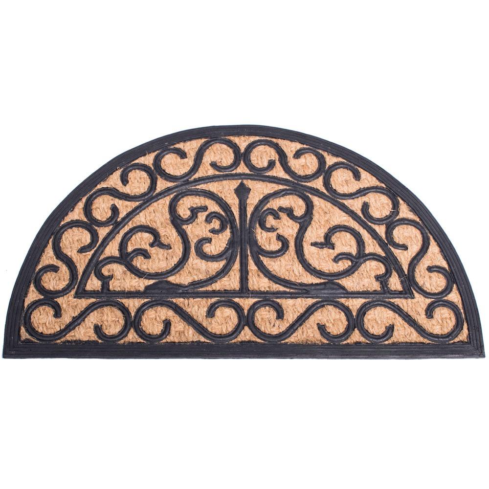 Spider Halfmoon Coir Doormat - 70cm x 40cm
