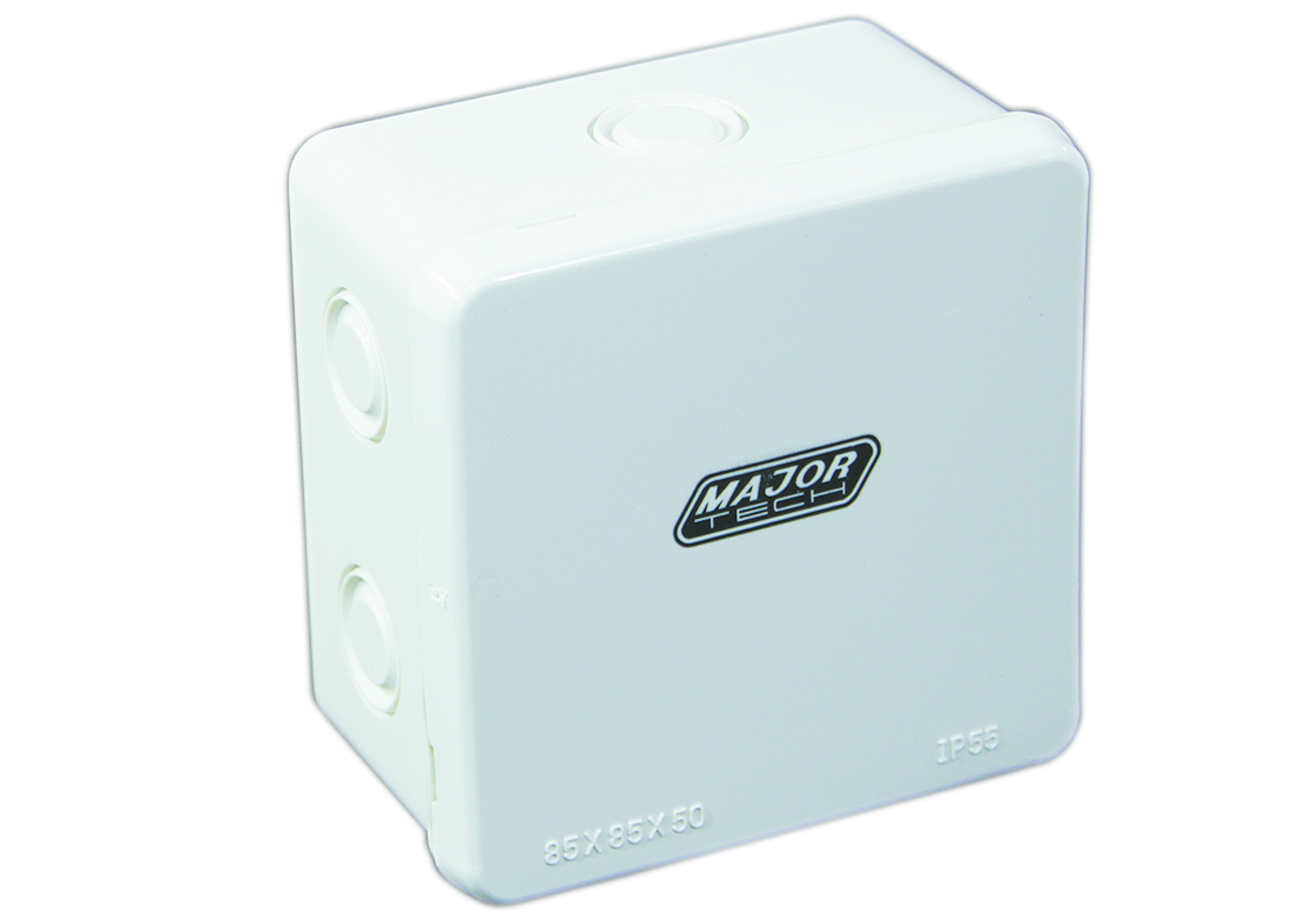 85mm x 85mm x 50mm IP55 Junction Box with Knock Outs Pack of 5(VJ885G) - VETi