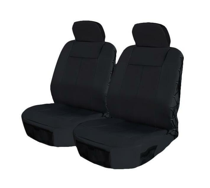 Front Seat Cover Set - Safari 4 Piece - Black