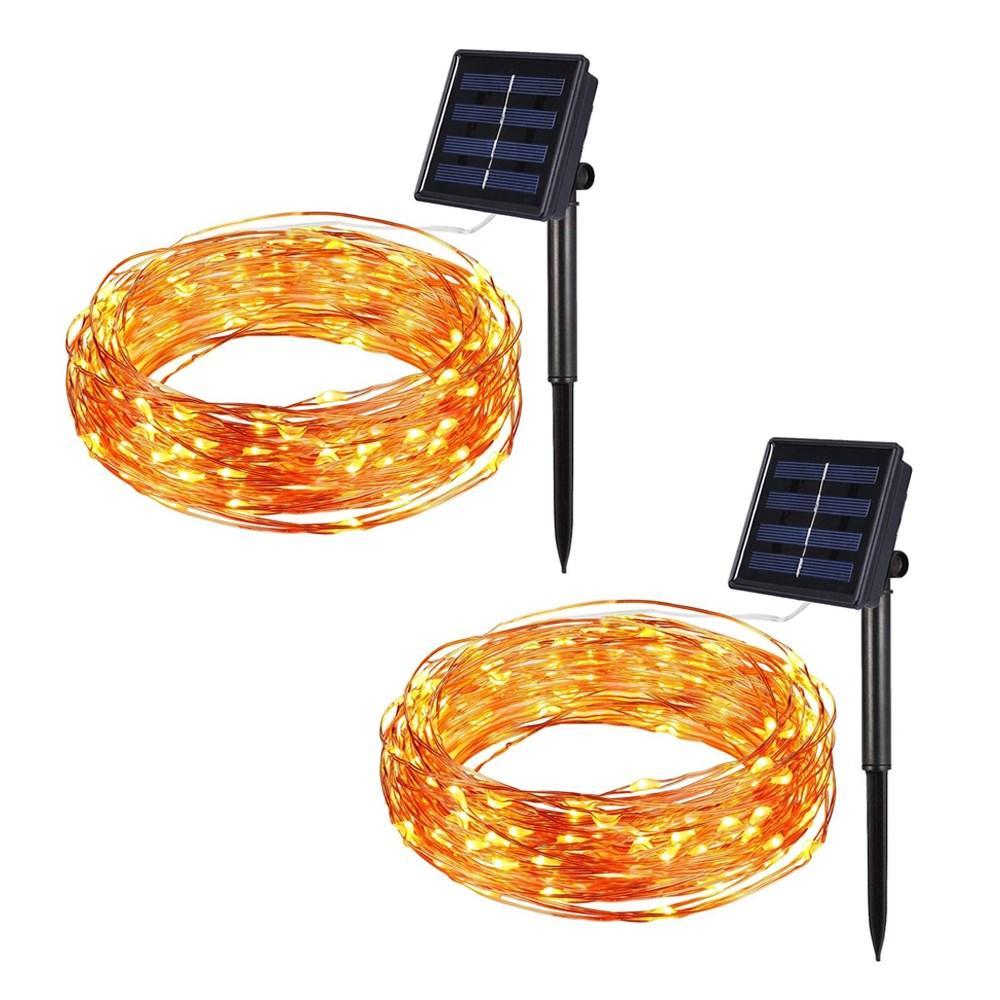 Litehouse 10m 100LED Solar Copper Fairy Lights