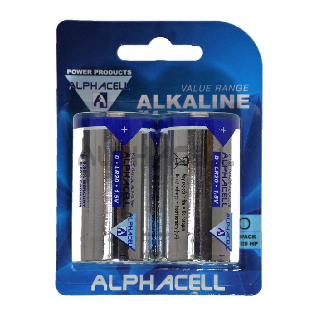 Alkaline Value D LR14 2pc - CARDED