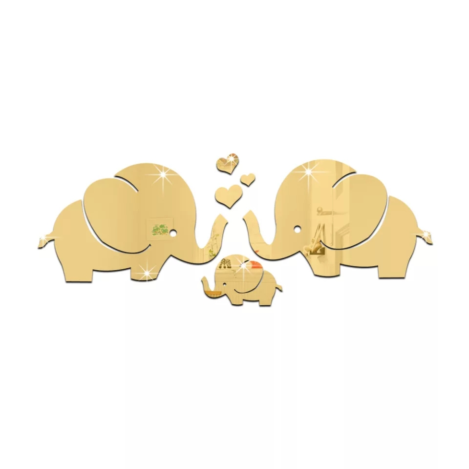 Gold Elephant Mirror Wall Décor kids
