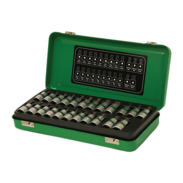 "Micro-Tec 23 Piece 1/2"" Drive Bit Socket Set - Chrome Vanadium Steel"