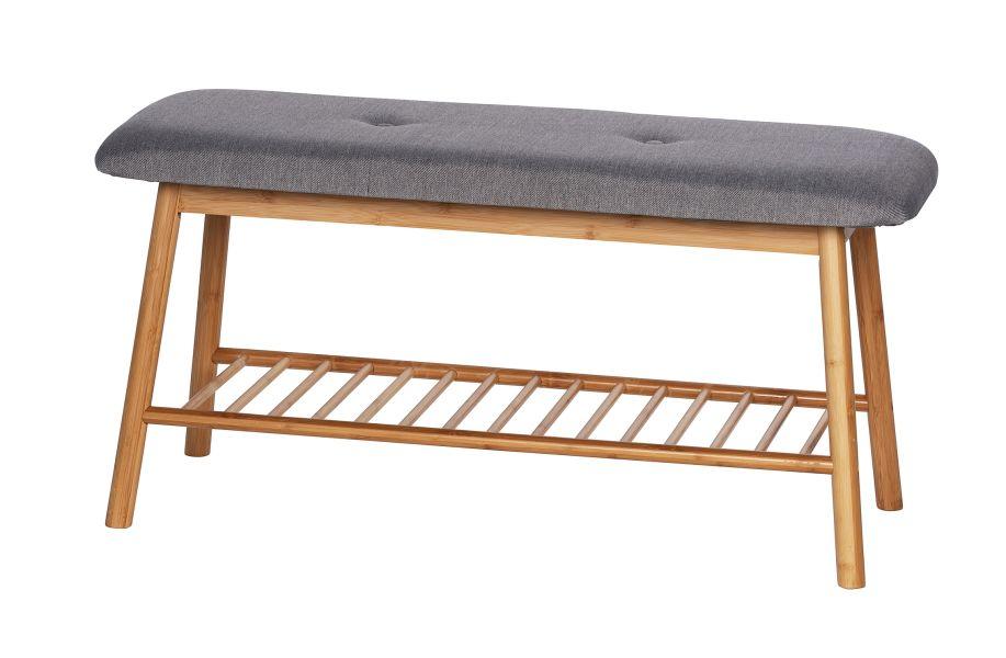 Wenko - Shoe Bench With Cushion - Bahari Range - Bamboo Grey