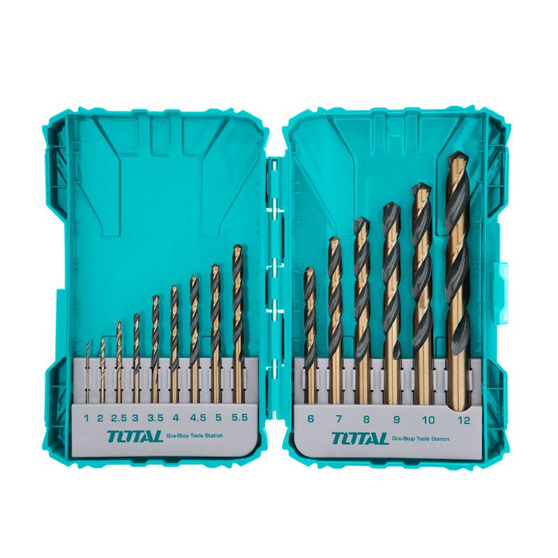 Total Tools 15pcs HSS  drill bits set