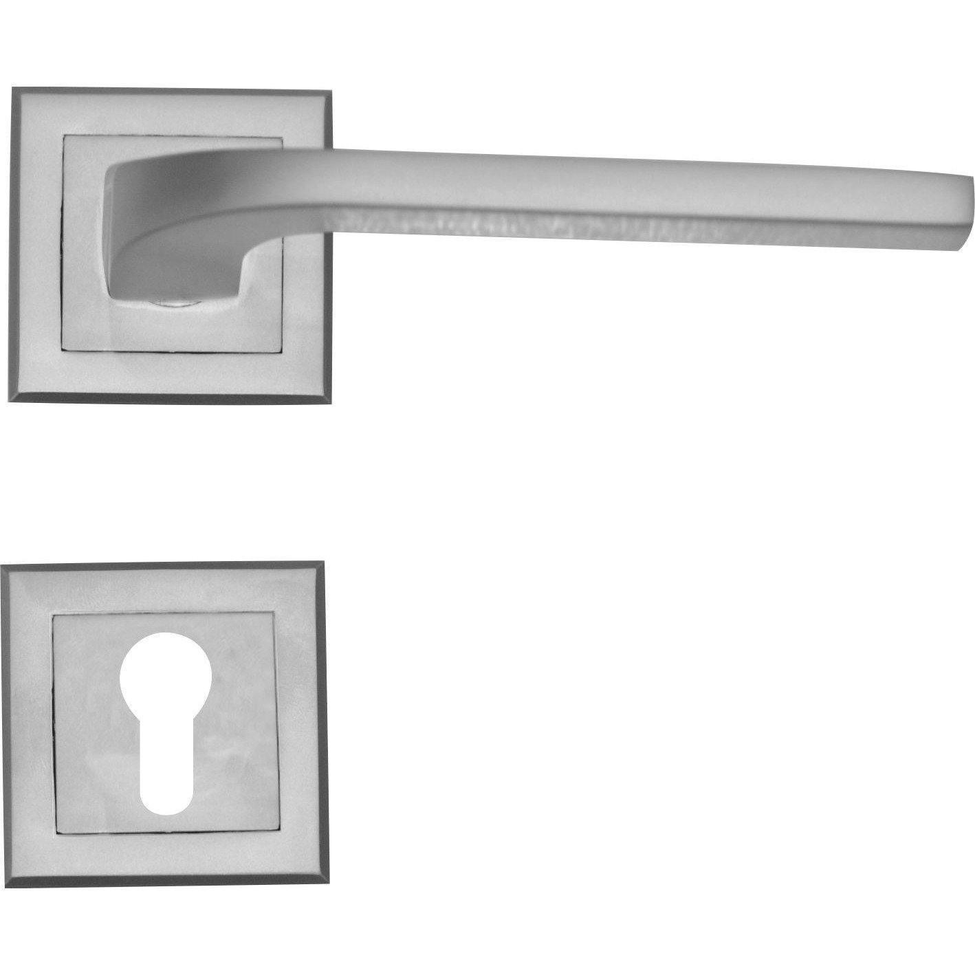 Slim square matt lever handle on rose