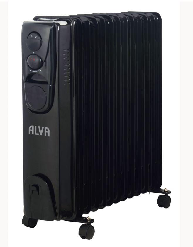 Alva - 13 Fins 2500W Oil Filled Black Heater