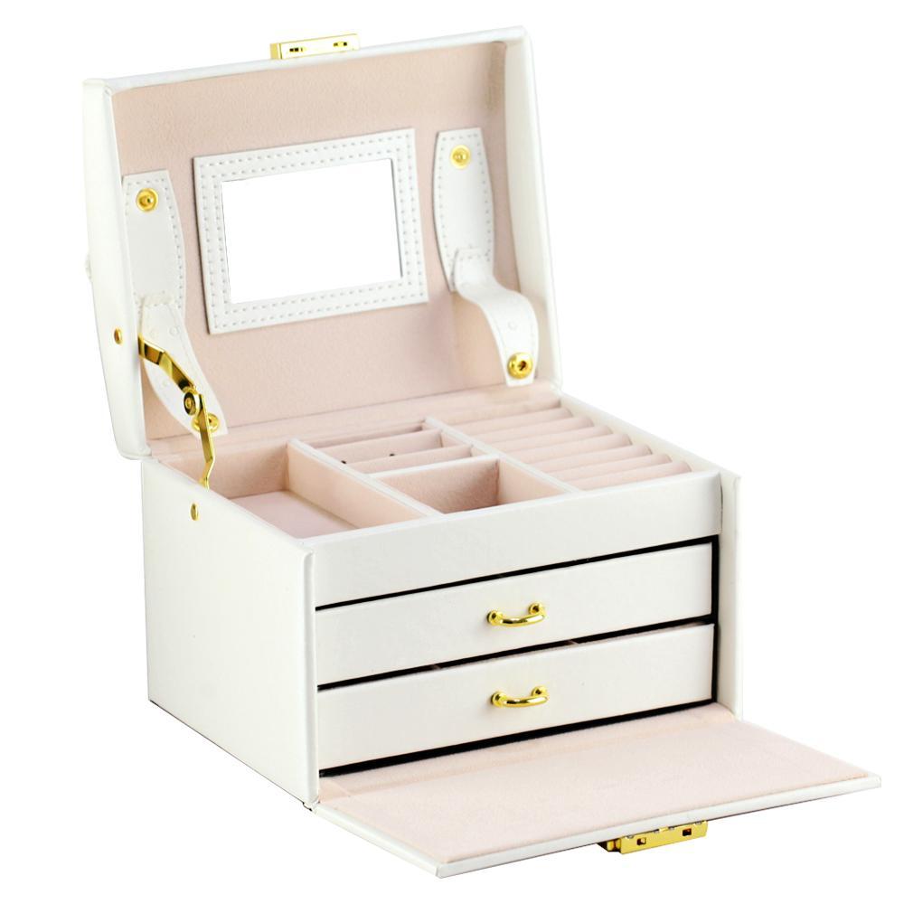 3Tier Jewelry Storage Organizer Lockable Box