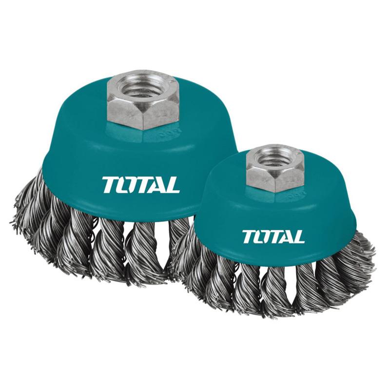 Total Tools 5 Pcs Circular Grinding Wire Brush 75mm