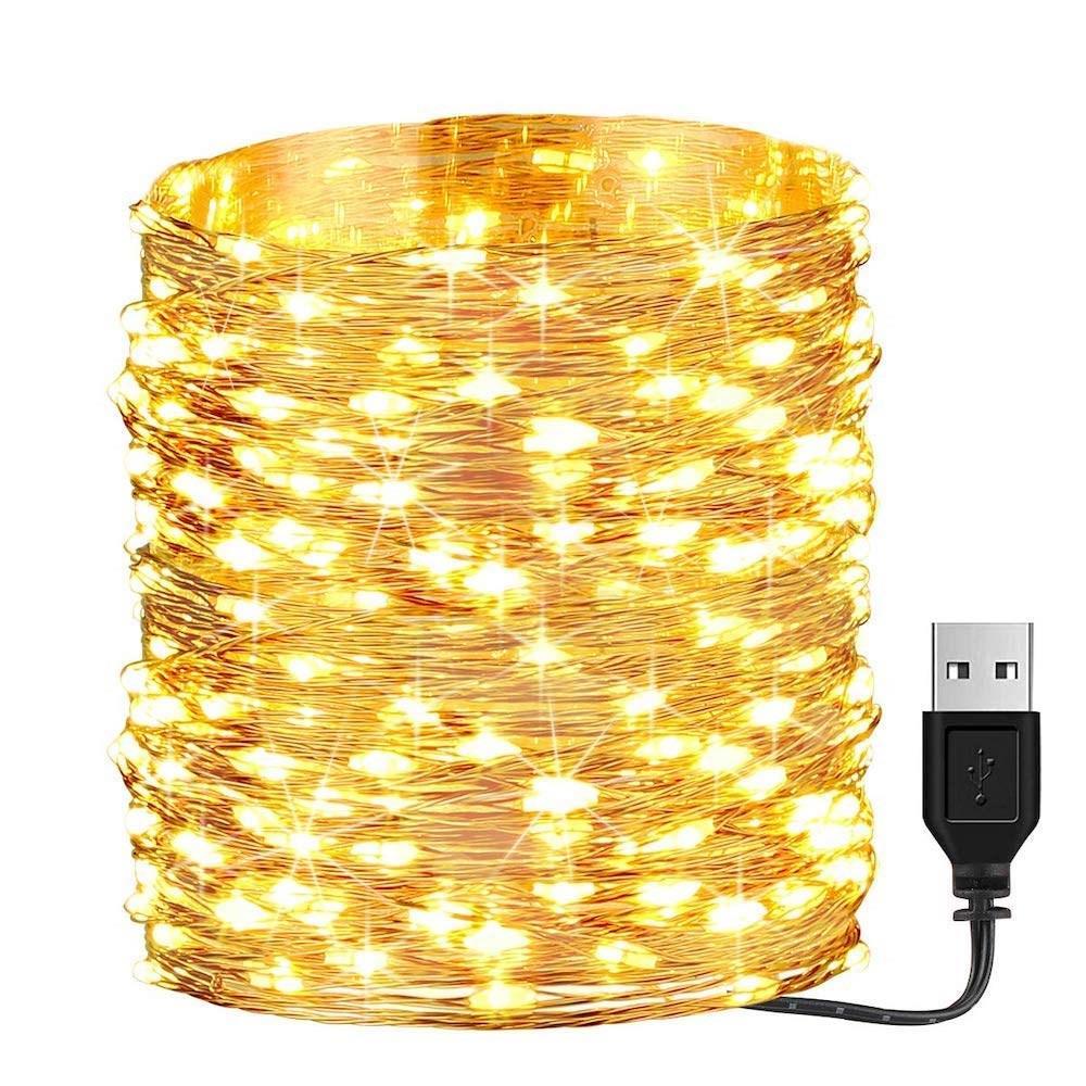 Litehouse 200LED Copper Warm White USB Fairy Lights - 20m