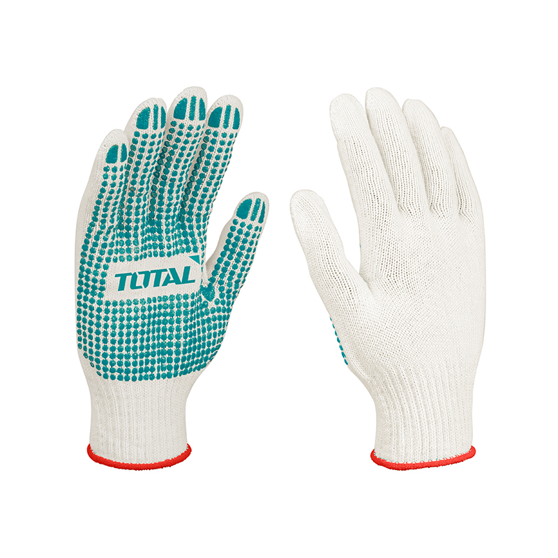 Total Tools 6 Pairs Knitted & PVC dots gloves