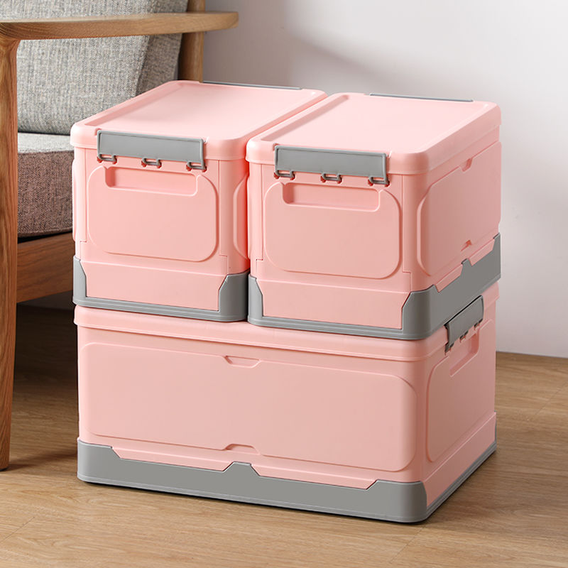 Foldable Storage Clip Boxes - Small - Pink