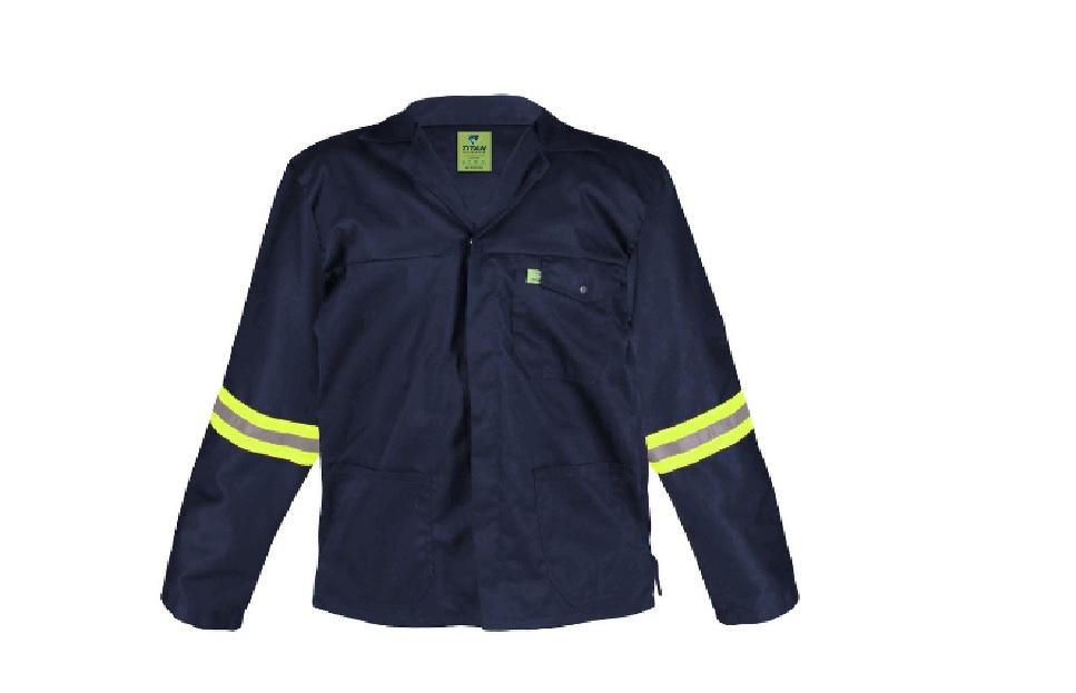 Titan Premium Navy Blue Workwear Jacket (with Reflective) 3XLarge