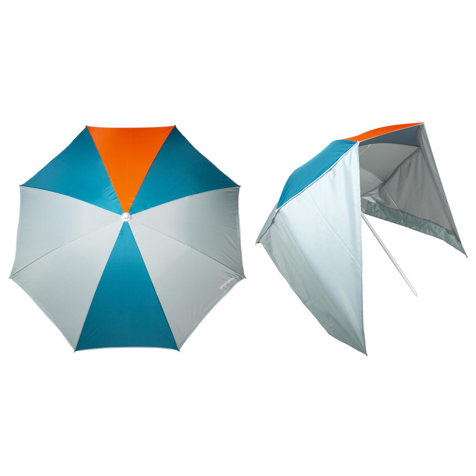 Beach umbrella for 2 person upf50+ windstop