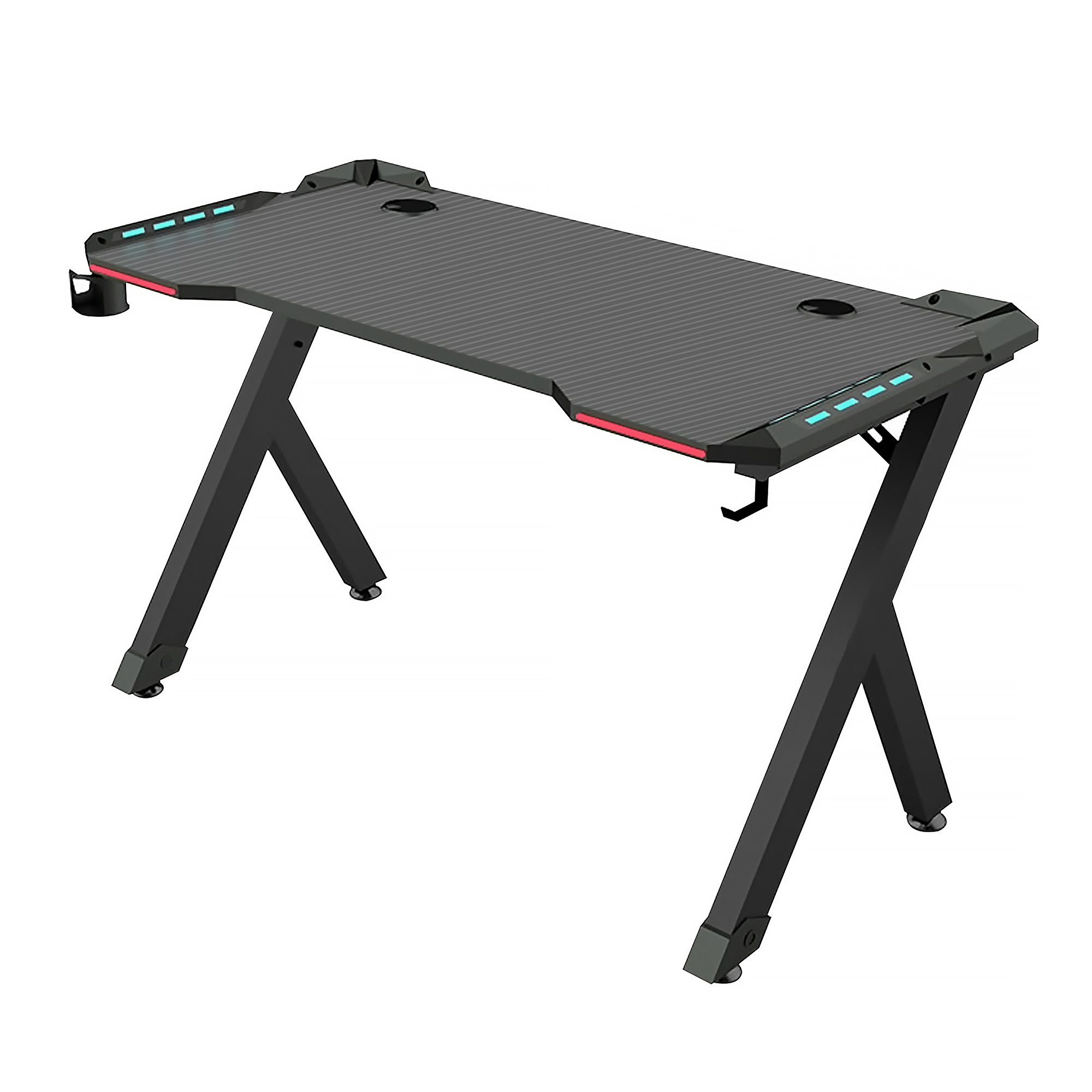 Gaming Computer Desk with LED RGB Lights