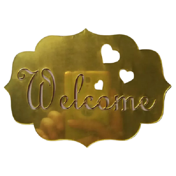 Welcome Sign - Gold