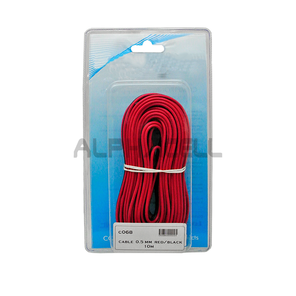 CABLE - 0.5mm Red/Black 10metre