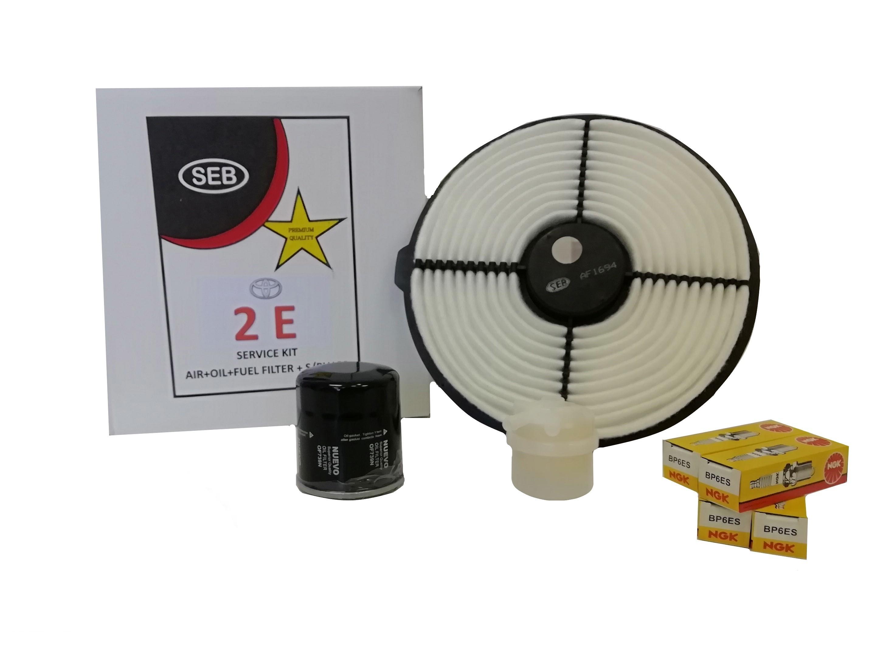 Filter Service Kit Toyota 2E -(Incl. Spark Plugs) - SEB