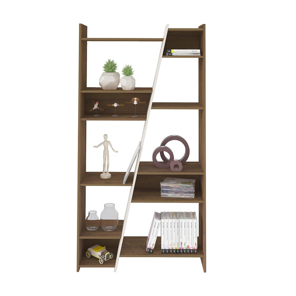 Click Furniture Zap Bookcase Pine & Off White