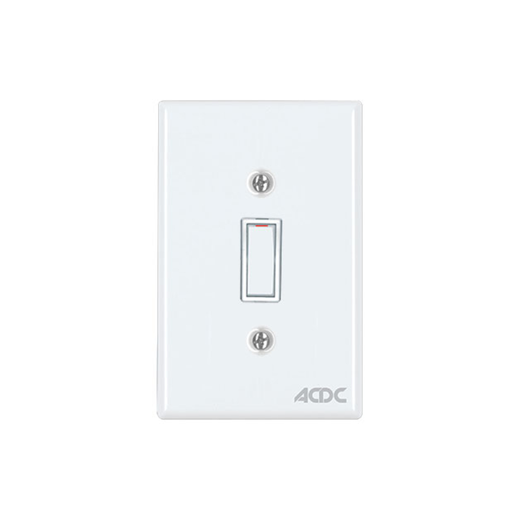 Classic Switches - 2 x 4 1 Lever 1 Way - White